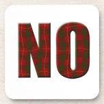 Tartan No Drink Coasters