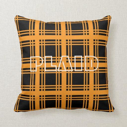 Tartan (Orange) Pillow