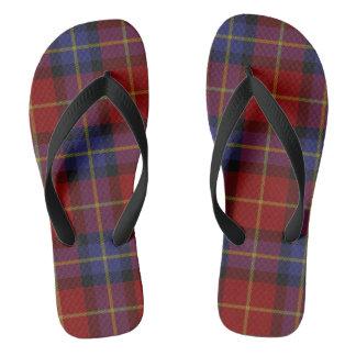 Tartan pattern flip flops