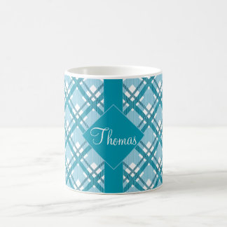 Tartan pattern of stripes and squares coffee mug