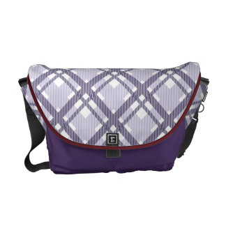 Tartan pattern of stripes and squares messenger bags