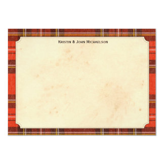 Tartan Personalized Notecards
