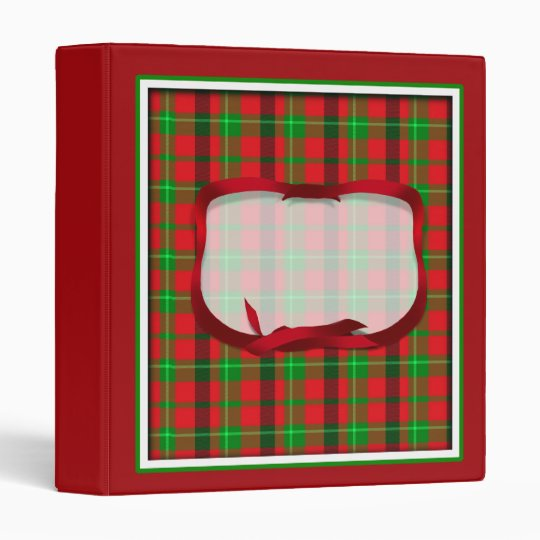Tartan Plaid (2) Christmas Background 3 Ring Binder