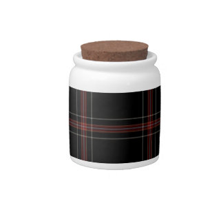 Tartan Plaid Candy Jar