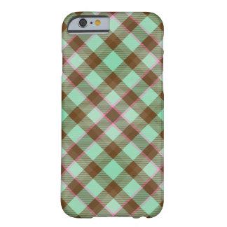 Tartan Plaid, Chocolate Mint iPhone 6 Case