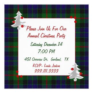 Tartan Plaid Christmas Party Invitation