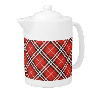 Tartan Plaid Christmas Teapot / Coffee Pot -Medium
