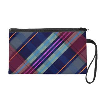 Tartan Plaid Customizable Bagettes Wristlet Bag