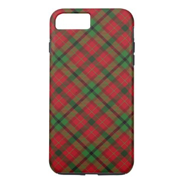 Christmas Themed Tartan Plaid Holiday Festive Christmas iPhone 7 Plus Case