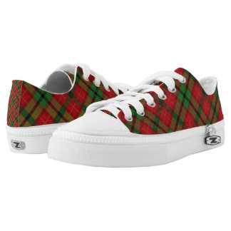 Tartan Plaid Holiday Festive Christmas Low-Top Sneakers