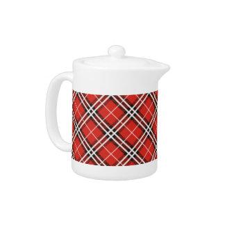 Tartan Plaid Holiday Teapot / Coffee Pot