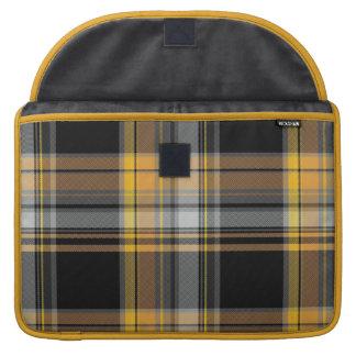 Tartan Plaid in Yellow and Black MacBook Pro Sleeves