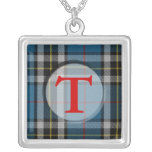 Tartan Plaid Monogram Necklace