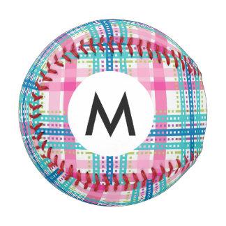 Tartan, plaid pattern baseball