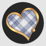 Tartan Plaid Pattern Collection - Blue 03 Stickers