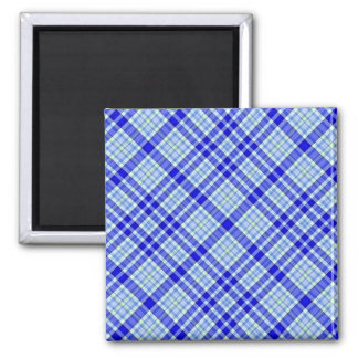 Tartan Plaid Pattern Collection - Blue 08 2 Inch Square Magnet