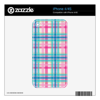 Tartan, plaid pattern decals for iPhone 4