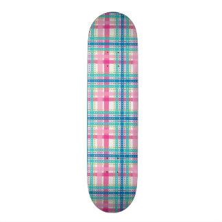Tartan, plaid pattern skate board