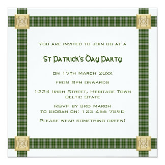 Tartan Plaid St Patricks Day Party Invitations
