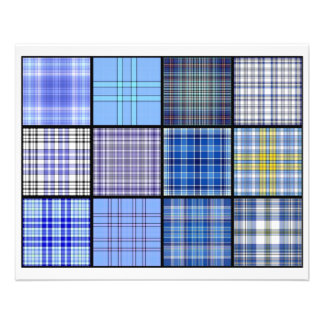 Tartan Plaid Tea Bag Tiles - Origami Folding Flyer