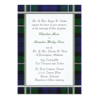 Tartan Plaid Wedding Invitation