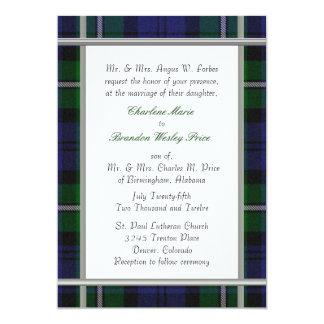 Tartan Plaid Wedding Invitation