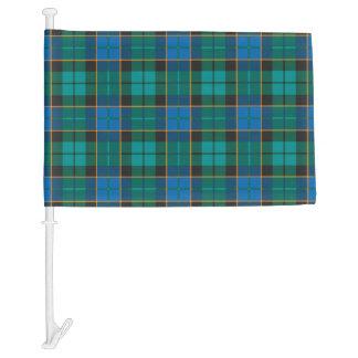 Tartan plaids pattern - traditional blue green car flag