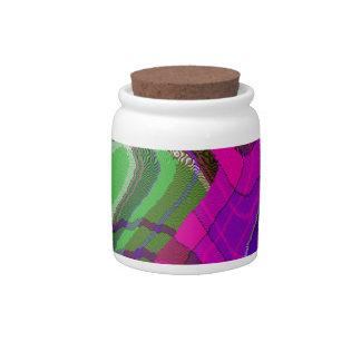 Tartan Pop Art Candy Jar