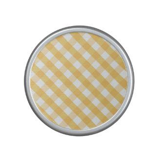 Tartán, rayas, amarillo, blanco, de moda, altavoz