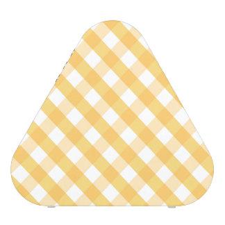 Tartán, rayas, amarillo, blanco, de moda, altavoz bluetooth