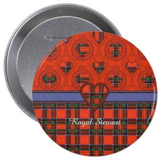 Tartán real del escocés de la tela escocesa del chapa redonda 10 cm