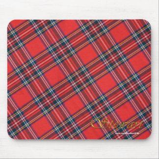 Tartán real escocés patriótico de la tela escocesa alfombrilla de ratones