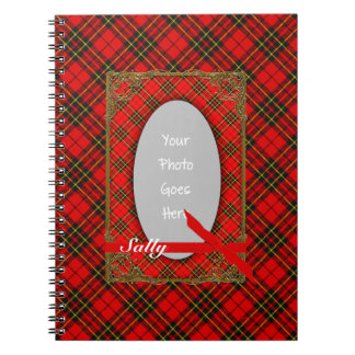 Tartan RED and YELLOW Photo Notebook