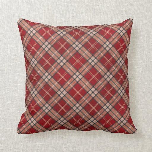 Red Plaid Decorative Pillows : Tartan Plaid Pillows, Tartan Plaid Throw Pillows