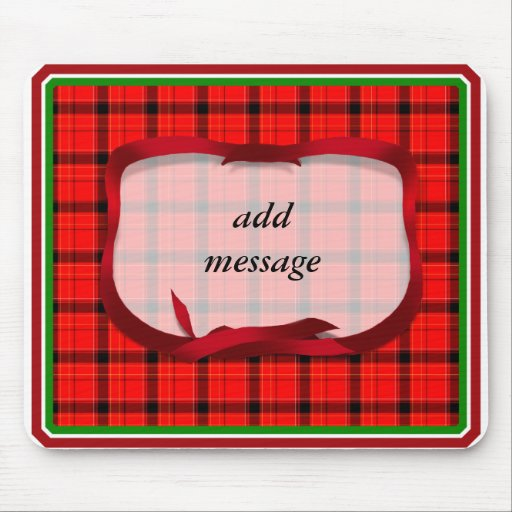 Tartan Red Plaid Christmas Background Mouse Pad