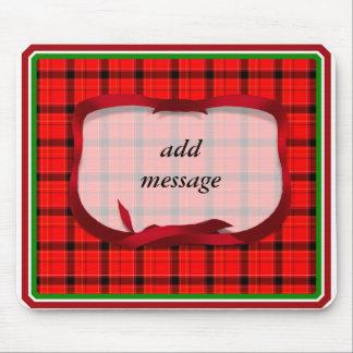 Tartan Red Plaid Christmas Background Mousepads