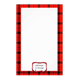 Tartan Red Plaid Christmas Background Stationery