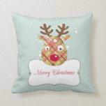 Tartan Reindeer Pillows