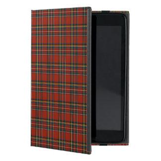 Tartán rojo, azul, y verde de la familia real de iPad mini fundas