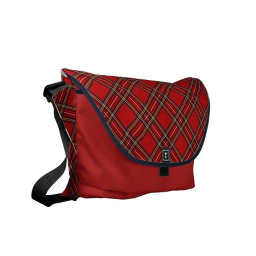 Tartán rojo bolsas messenger