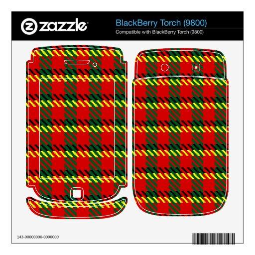 Tartán rojo de Rob Skins Para BlackBerry Torch
