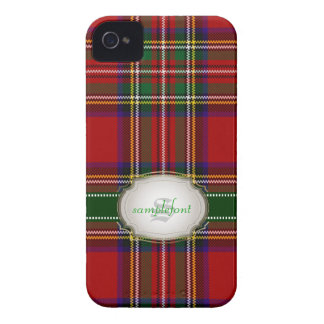 Tartán/rojo de Stewart del clan de Case-Mate iPhone 4 Funda