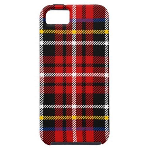 Tartán rojo, negro, azul, amarillo y blanco iPhone 5 carcasas