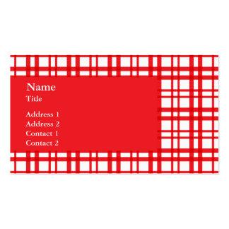 Tartán rojo plantillas de tarjeta de negocio