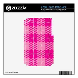 Tartán rosado calcomanía para iPod touch 4G