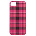 Tartán rosado iPhone 5 funda