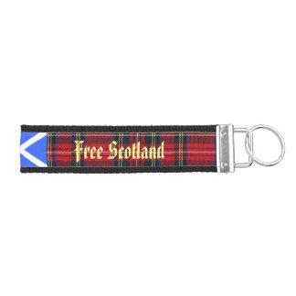 Tartan Saor Alba Free Scotland Wrist Keychain