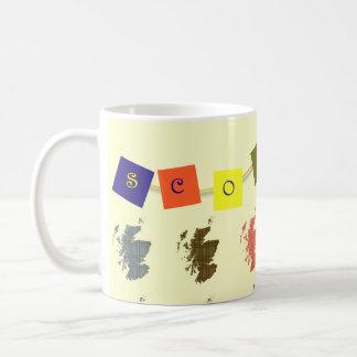 Tartan Scotland Map Bunting Mug
