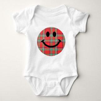 Tartan Scottish Smiley Baby Bodysuit