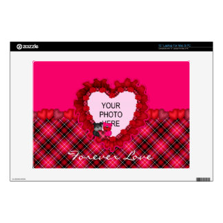 Tartan Teddies Love-Vinyl Laptop Skin 13in